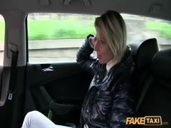 Blonde horny girl banged deep by hard cock amateur taxi