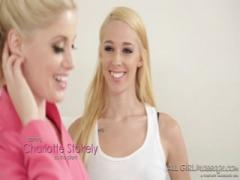Naughty teacher Charlotte Stokely is hot for some girl fun !