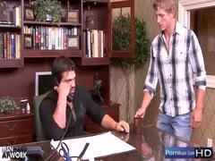 Manly sexy guys having sex in the office
