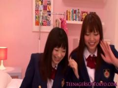 Cute Make Love Asian schoolBabe Girls lesbo fun at sleepover - Hot Video Sex