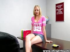 Tracey Sweet Drops To Her Knees For A Large Cock - This Girl Sucks