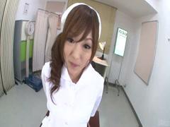 Lustful nurse's fucking her patient