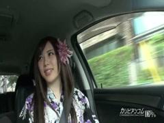 Horny girl in kimono seduce stupid guy