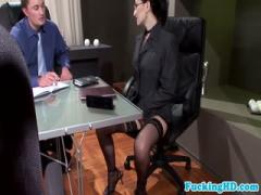 Bukkake at the business meeting - HD porn video  Pornbraze.com