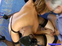 British milfs share an old cock and its cum - HD Braze