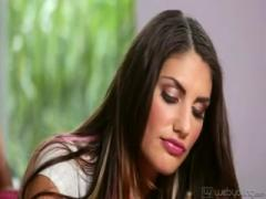August Ames seduced by Janice and Carmen
