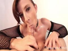 Sara Jay sucking orgy and swallow cum