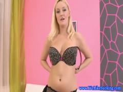 Blonde blowjob euro slut enjoys facial - HD porn video  Pornbraze.com