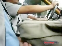 Bigcockflasher - Flashing the taxi driver