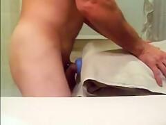 Homemade sex toy pillow humping cum