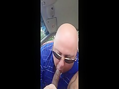 Sucking hard black cock early morning at the park