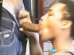 Tall Skinny Black Boy Cums In Very Pretty Mouth