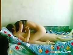 Young Russian couple sex on camera