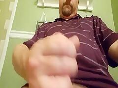 Str8 daddy bear stroke his meat